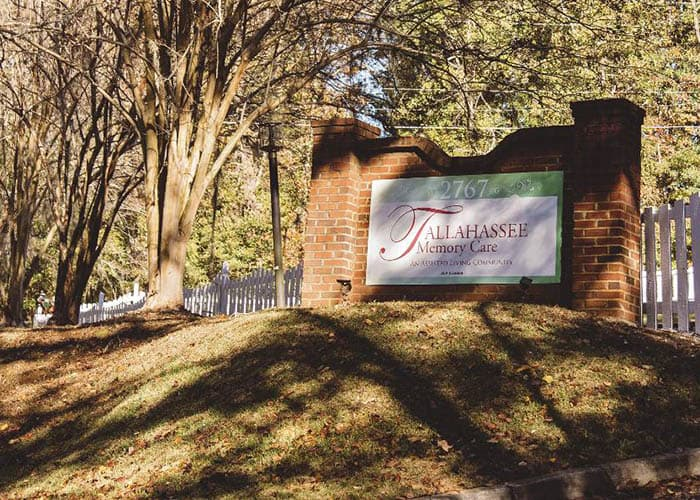 Tallahassee Memory Care signage