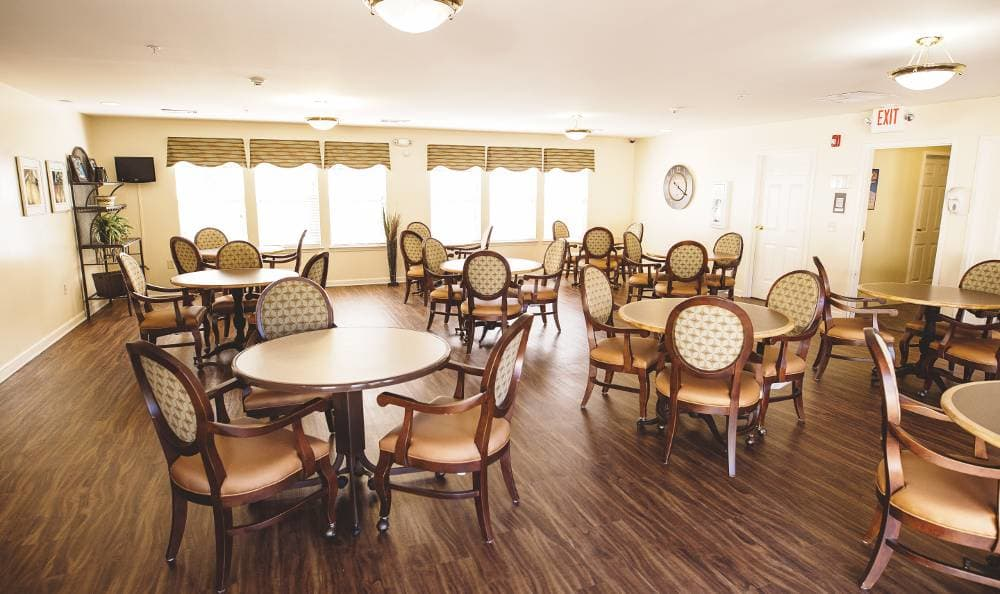 Dining room for our residents at Tallahassee Memory Care