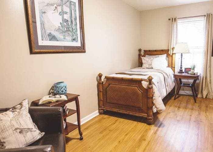 Well decored bedroom in Tallahassee Memory Care