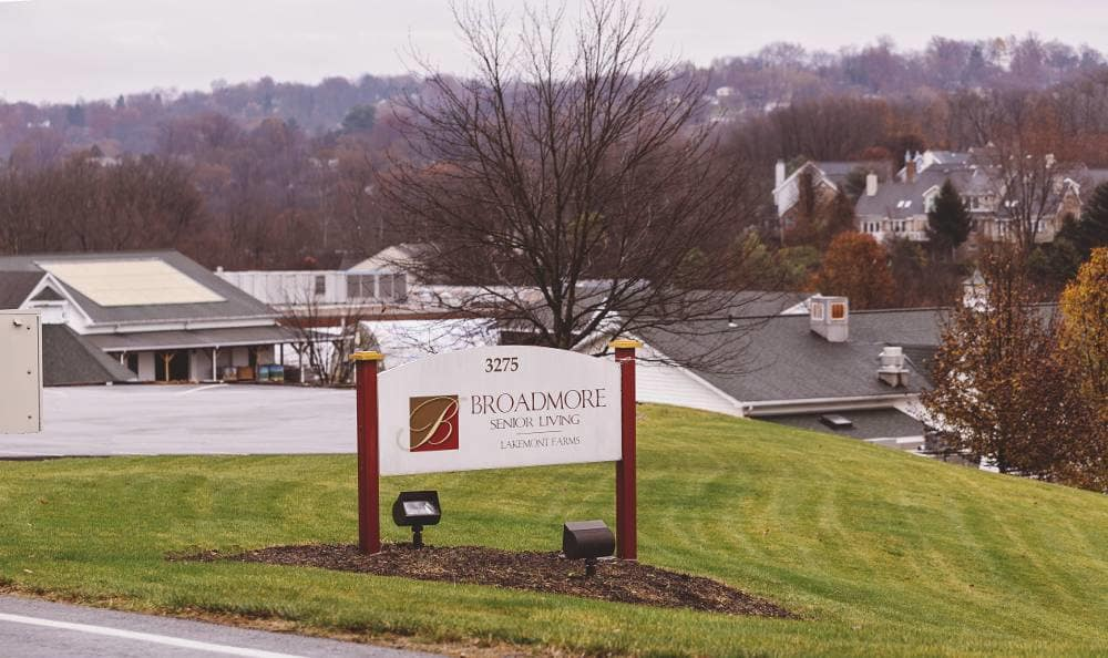 Be welcome to our installations at Broadmore Senior Living at Lakemont Farms in Bridgeville