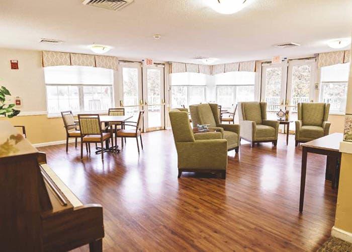 Activity center with hard-wood flooring