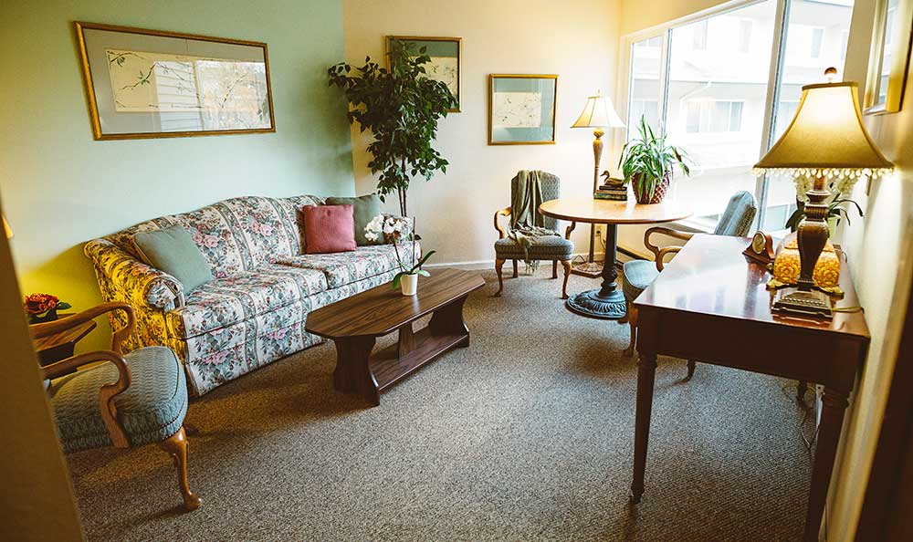 Enjoy private time in your living room at The Village Senior Living