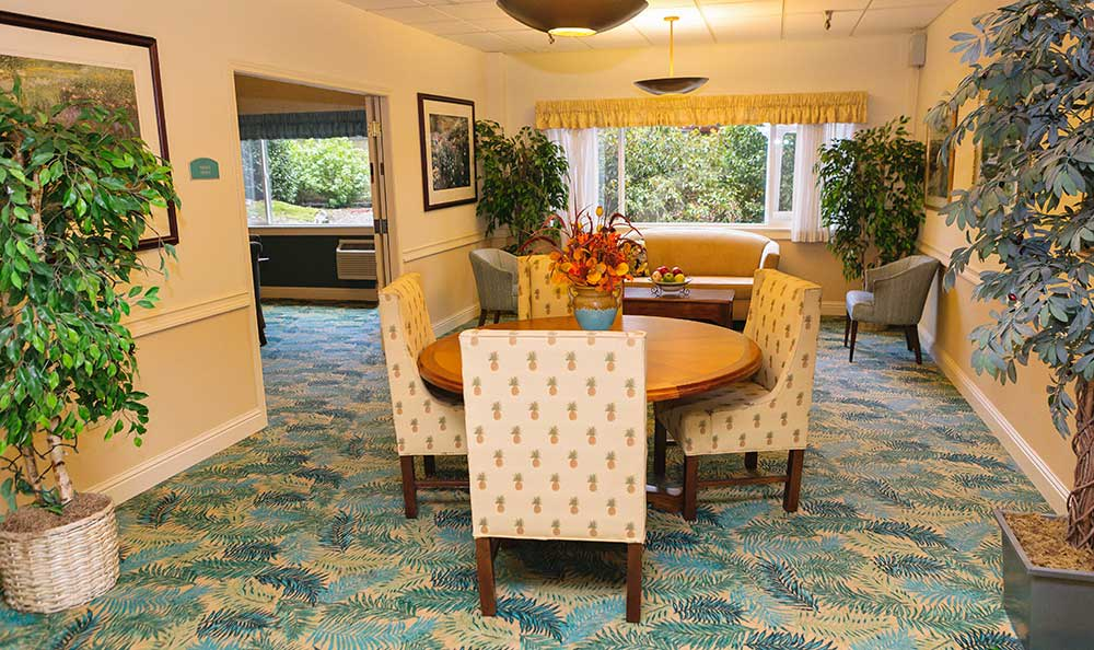 Sitting area at The Village Senior Living in Tacoma, WA
