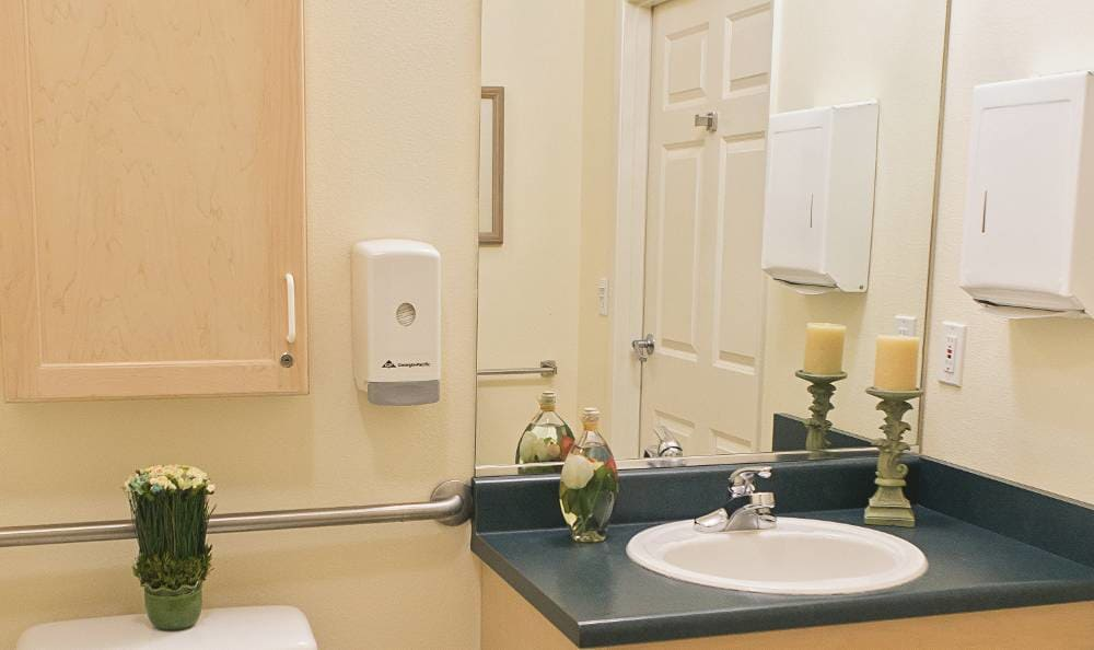 private bathroom at Birchview Memory Care