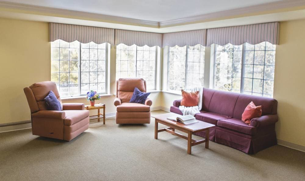 Spacious living room to share with our residents at Birchview Memory Care