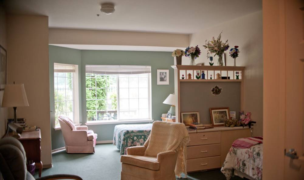 Beautiful living room at Birchview Memory Care in Sedro-Woolley, WA
