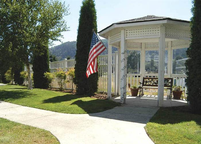 gazebo located on the Birchview Memory Care grounds