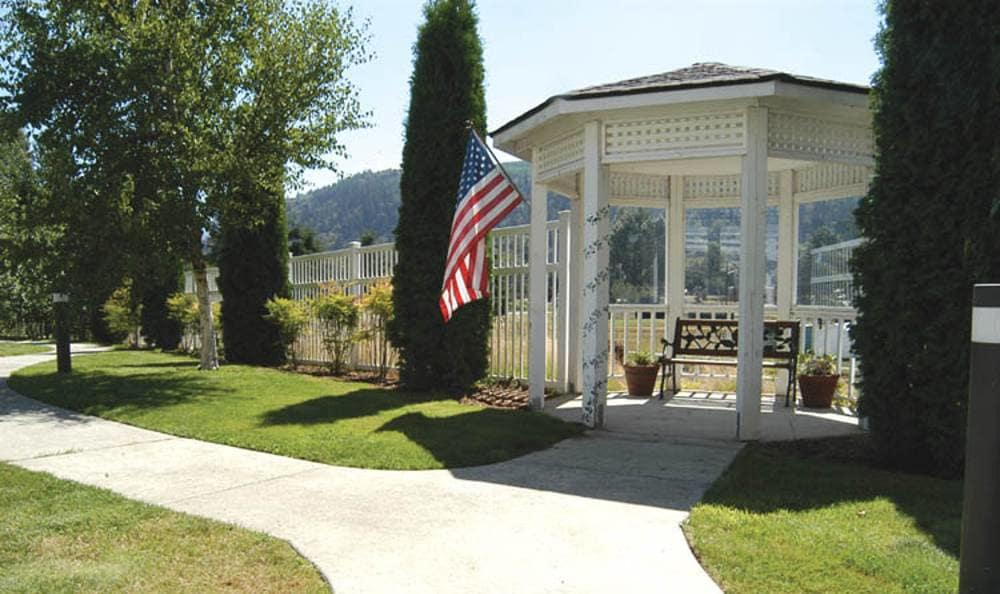 Beautiful gazebo at Birchview Memory Care in Sedro-Woolley,WA