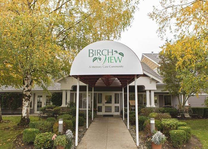 Entrance to Birchview Memory Care