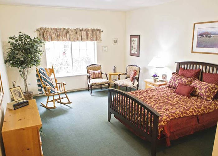 Bedroom at Birchview Memory Care