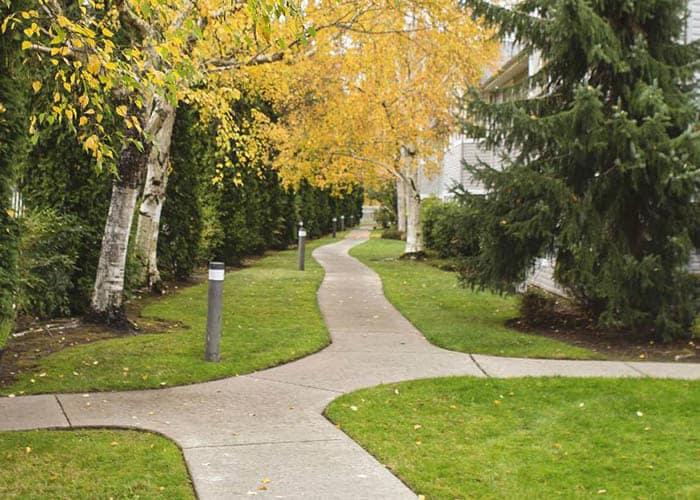 outdoor walkway at Birchview Memory Care