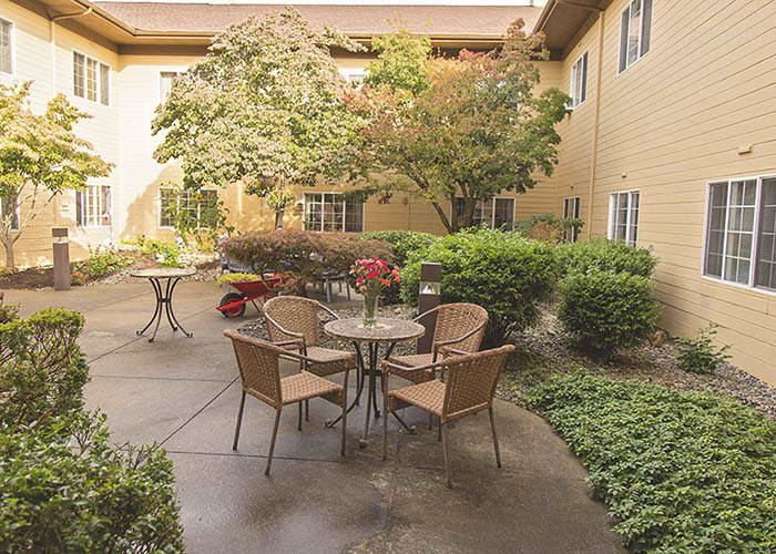 Courtyard At The Center Of Our Centralia WA Senior Living Community