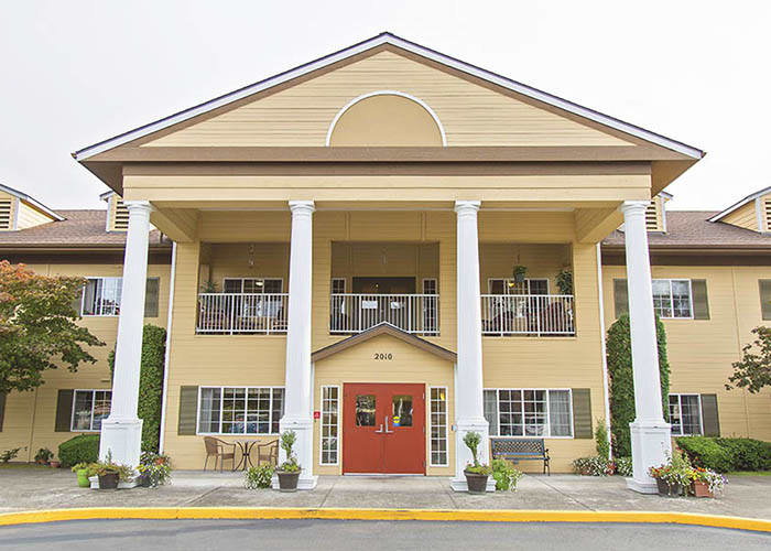 Main Entrance To Cooks Hill Manor Assisted Living