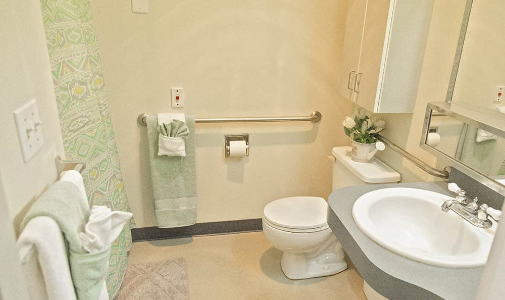 Washroom At Cooks Hill Manor Assisted Living