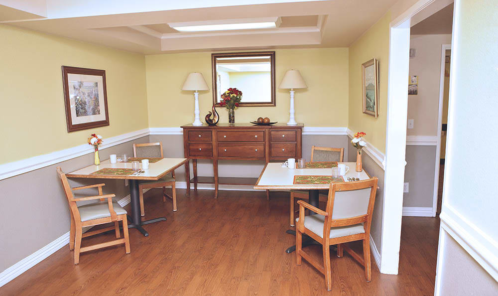 Dining Area With Hard Wood Floors