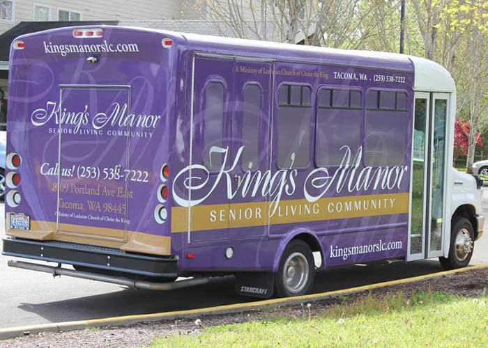 Transportation services at King's Manor Senior Living Community