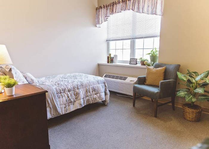 single bedroom at Broadmore Senior Living at Hagerstown