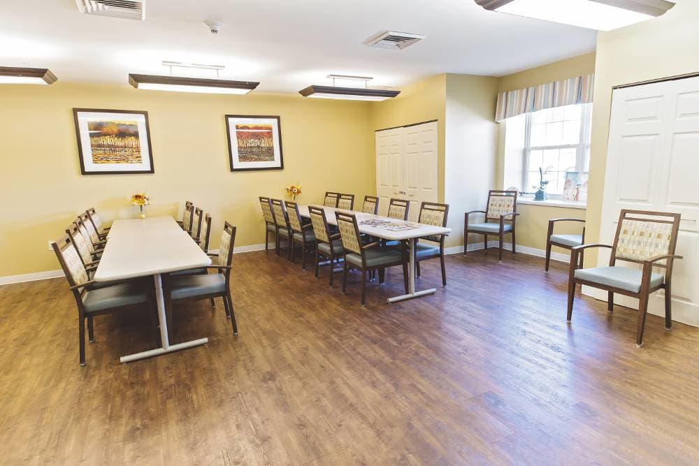 Meeting room at Broadmore Senior Living at Hagerstown