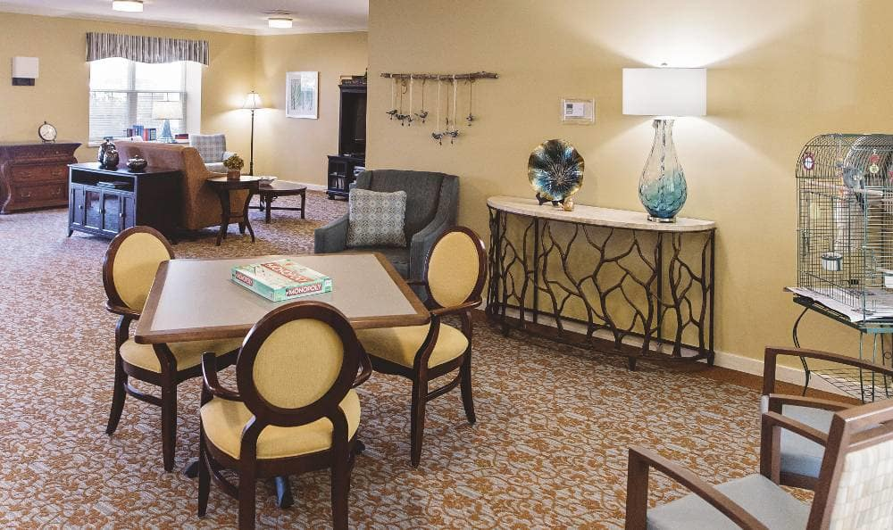 Beautiful dining room, where Broadmore Senior Living at Hagerstown offers a full-service dining program