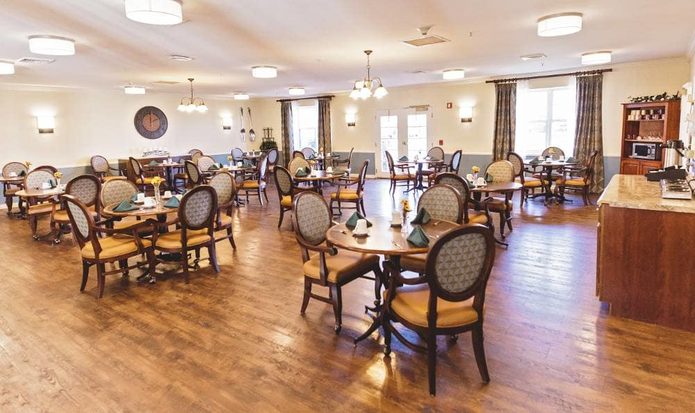 Dining room at Broadmore Senior Living at Hagerstown