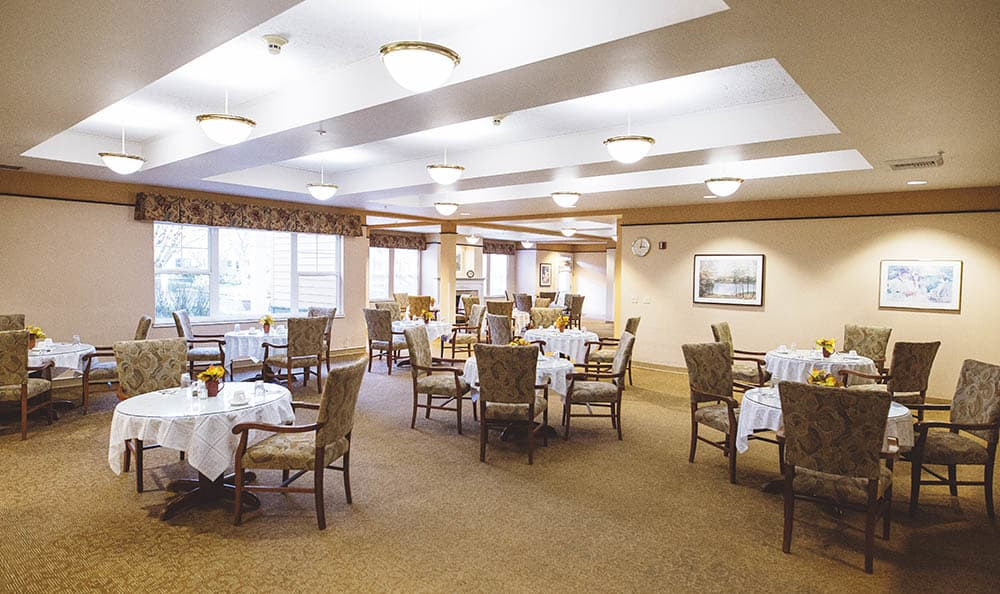 Dining Room At The Sequoia Assisted Living Community