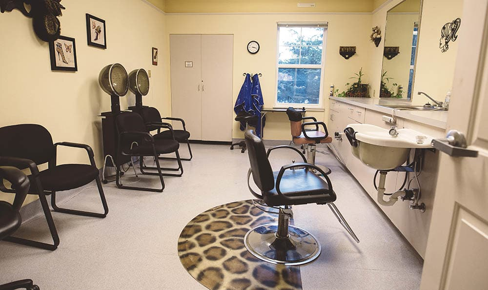 Hair Salon At The Sequoia Assisted Living Community