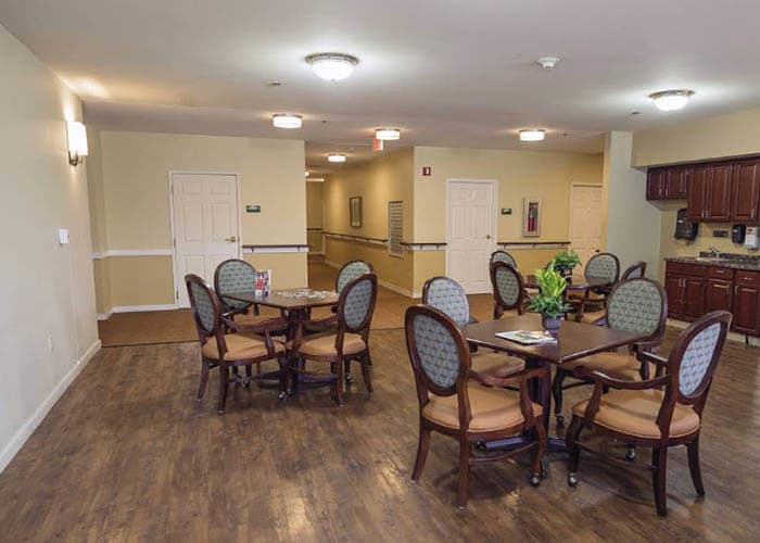 hardwood floors at Broadmore Senior Living at Teays Valley