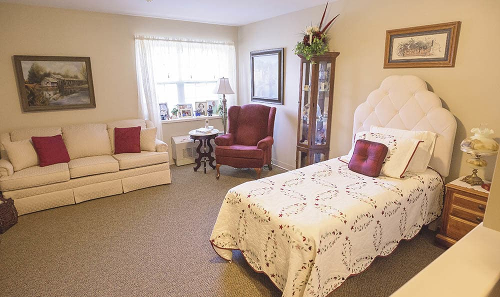 resident living spaces at Broadmore Senior Living at York