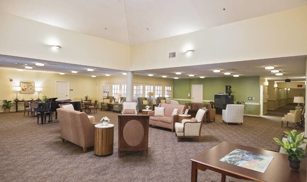central common area at the heart of Broadmore Senior Living at Bristol