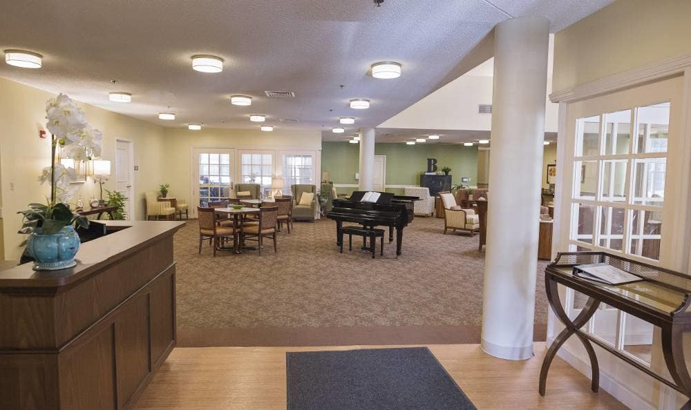 Broadmore Senior Living at Bristol reception