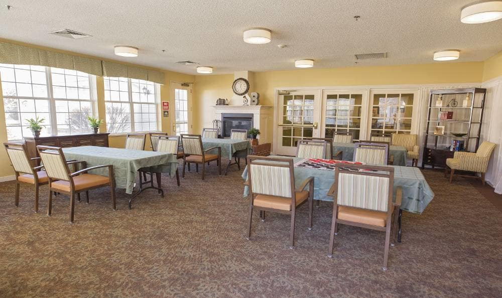 game room at Broadmore Senior Living at Bristol