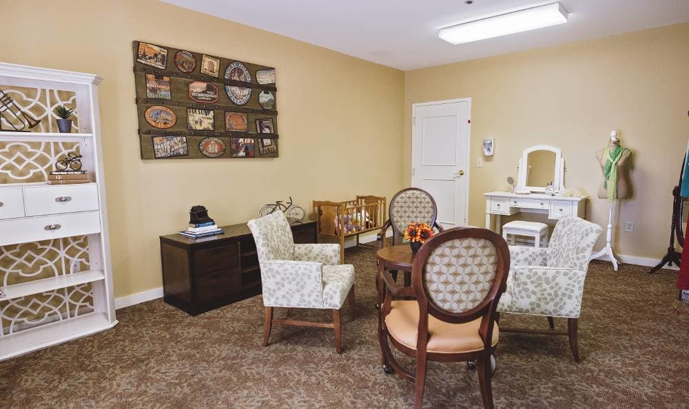 activity room at Broadmore Senior Living at Bristol