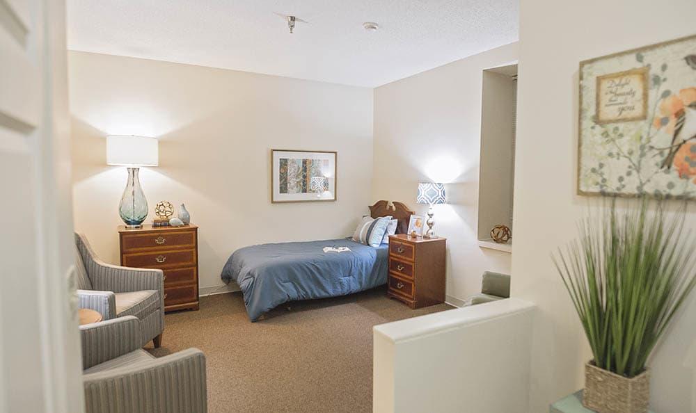 Bedroom At Broadmore Senior Living at Johnson City