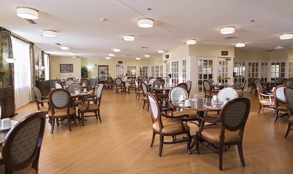 Dining Hall At Broadmore Senior Living at Johnson City