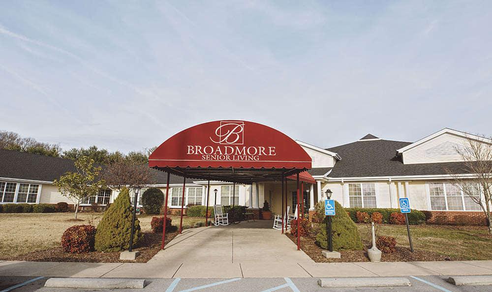 Entrance To Broadmore Senior Living at Johnson City