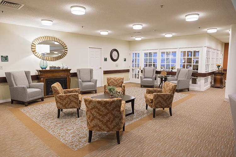 Social Room At Broadmore Senior Living at Johnson City Small