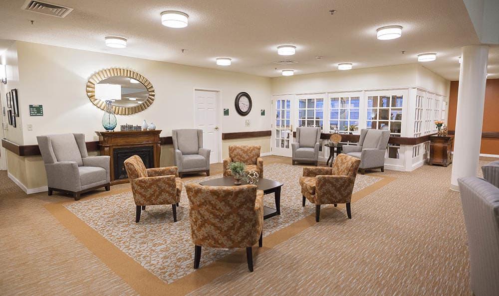 Social Room At Broadmore Senior Living at Johnson City