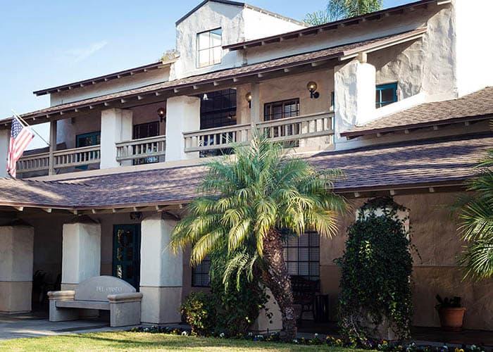 Exterior View Of Our Main Building At Del Obispo Terrace Senior Living In San Juan Capistrano CA