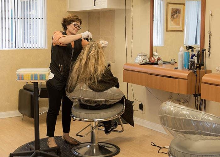 Hair Salon For Our Residents At Del Obispo Terrace Senior Living In San Juan Capistrano CA