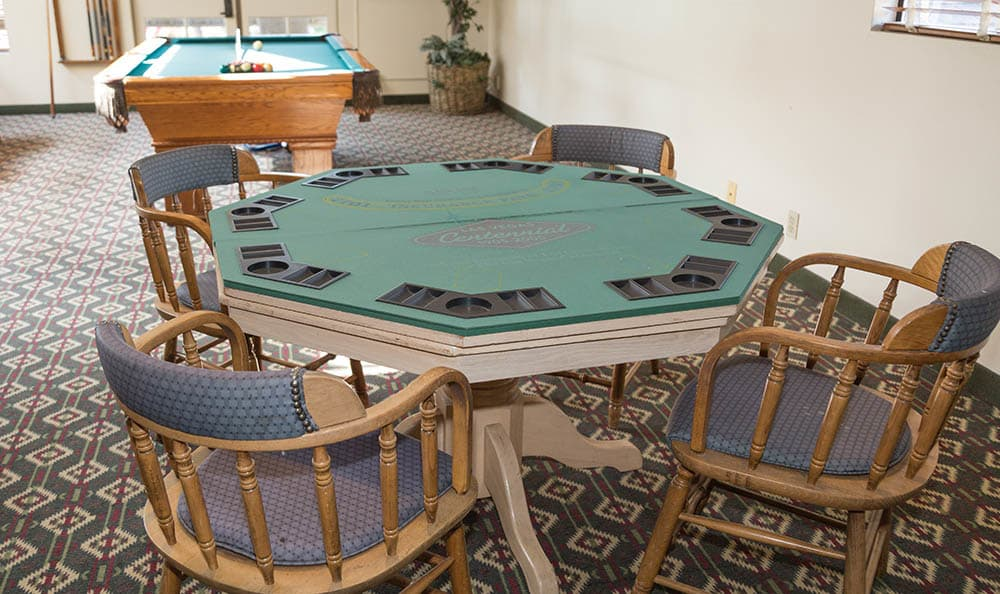 We Have A Poker Table In Our Game Room At Del Obispo Terrace Senior Living
