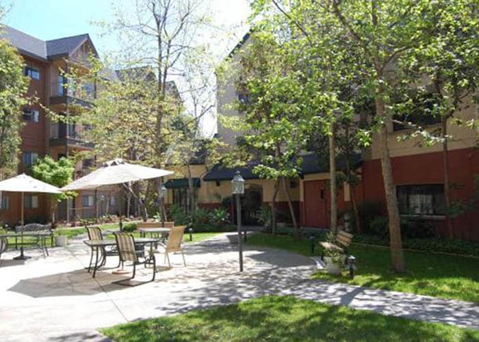 exterior courtyard and walking path