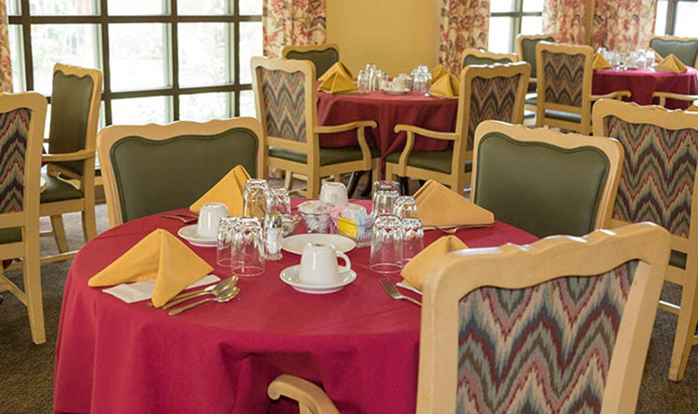 Dining Room For Residents Of Westminster Terrace Assisted Living Community