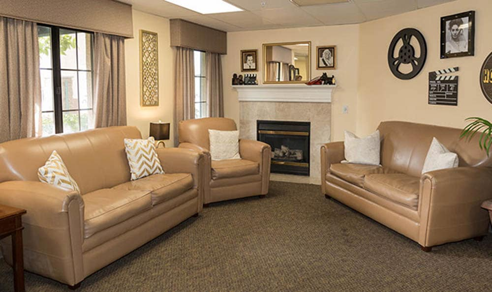 Fireside Lounge At Westminster Terrace Assisted Living Community