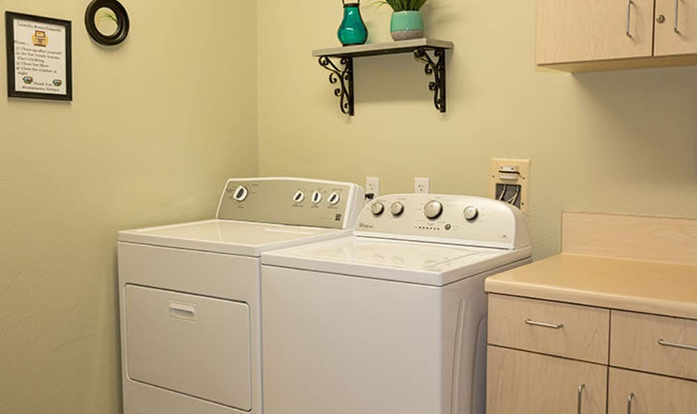 Free Use Of Washer And Dryer At Westminster Terrace Assisted Living Community