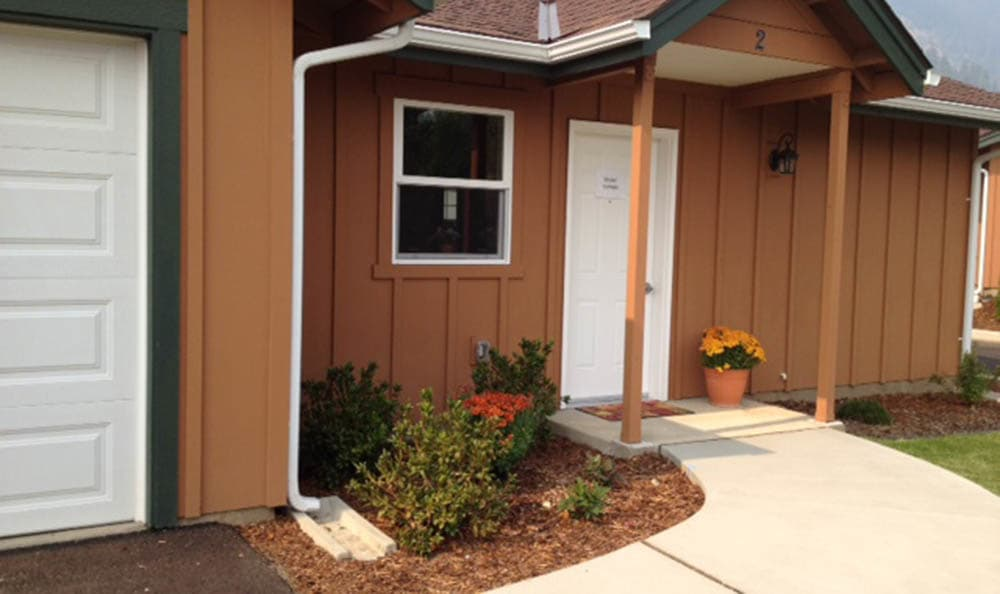 Entrance To Mountain Meadows Senior Living Campus Cottages