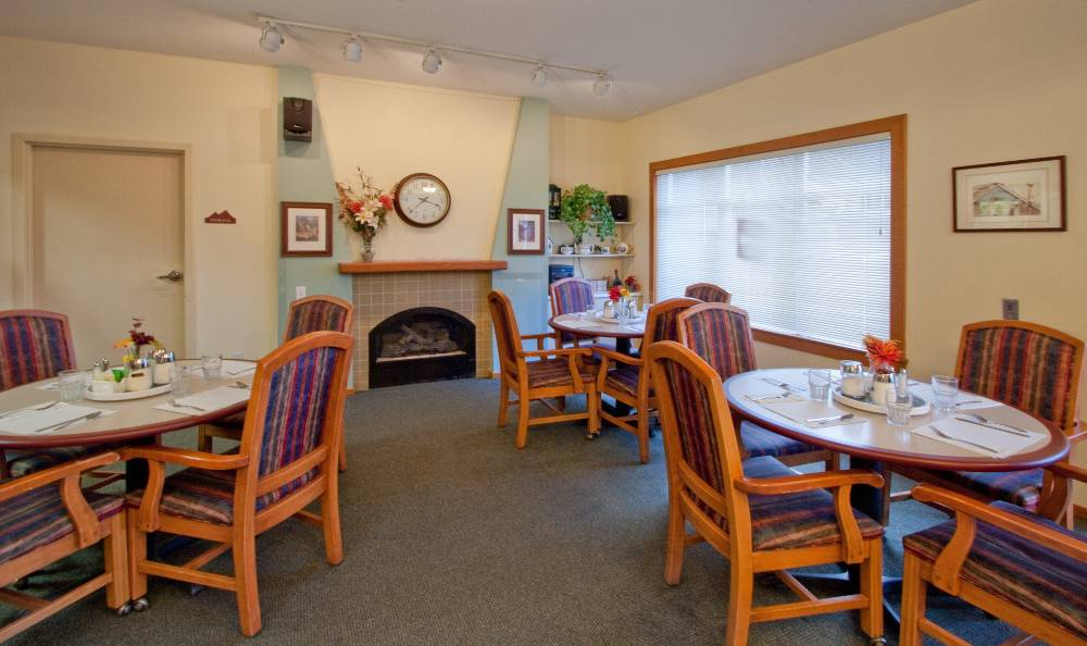Dining room for our residents at Mountain Meadows Senior Living Campus