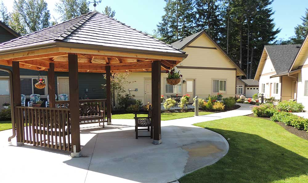 Gazebo at The Lodge at Mallard's Landing in Gig Harbor, WA