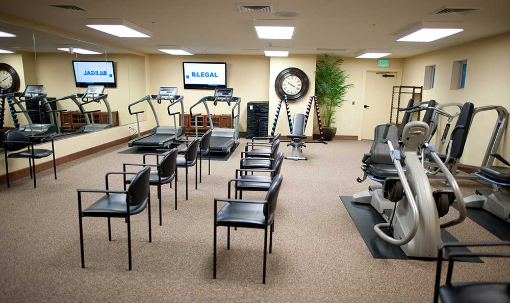 Fitness center at The Lodge at Mallard's Landing