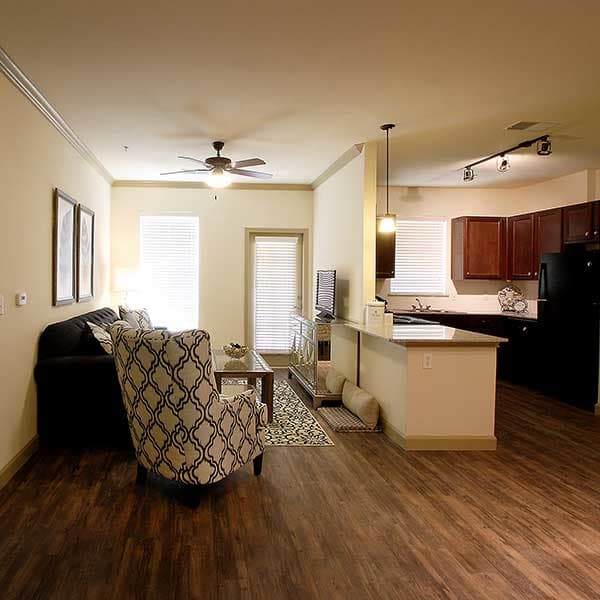 Parkview on Hollybrook offers hardwood flooring and handsome cabinets.