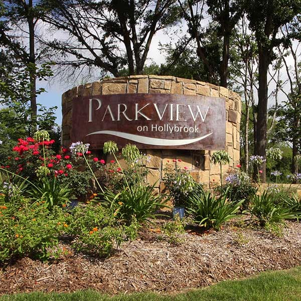 Parkview on Hollybrook monument.